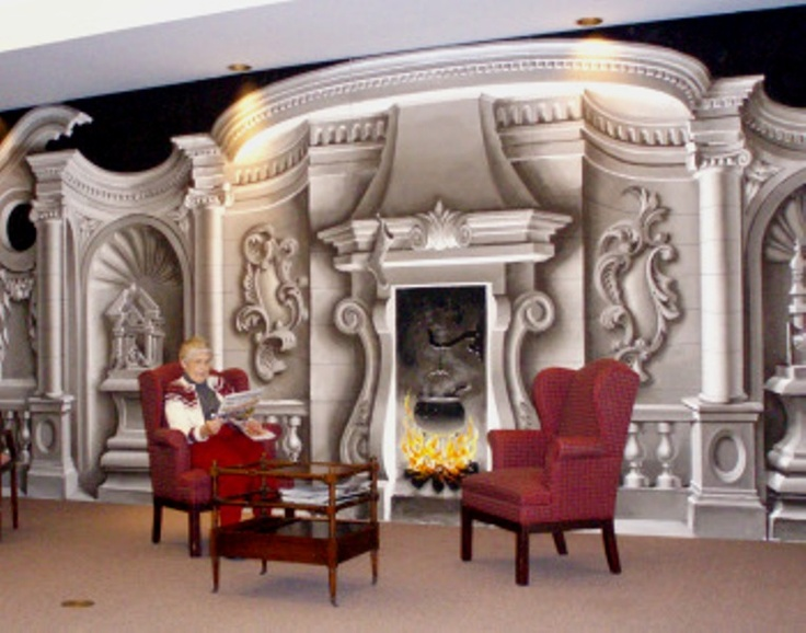 Bob Cothrans Trompe Loeil Mural An Incredible Man He Was My Set Design Professor From University Of Tennessee