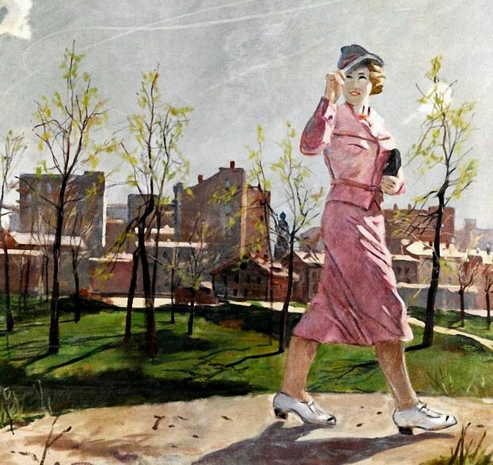 Александр Дейнека. Весна (700x659, 211Kb)