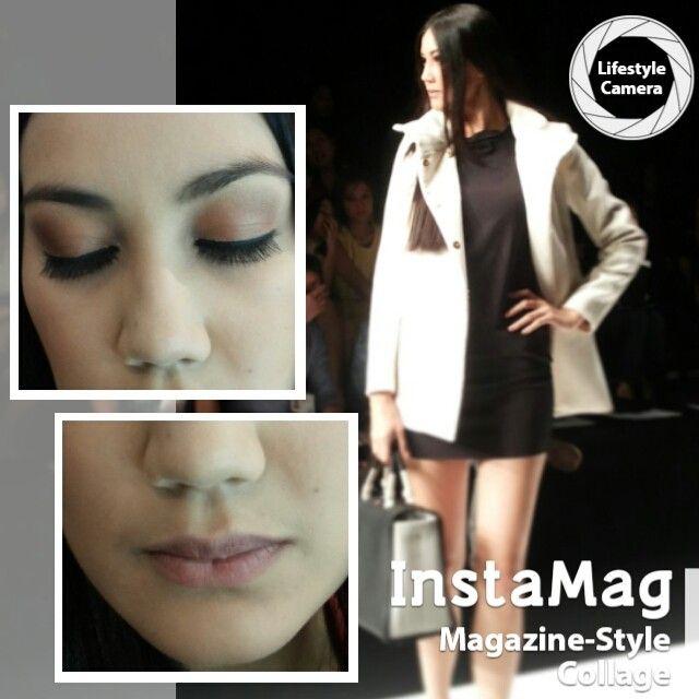 "Pagelaran @senayancity ""LA VIE EN NOIR"" diawali penampilan dari @kamilaerg .Natural makeup by Colour Crush @The Body Shop Indonesia  #TBSforJFW2014 | Day #6"