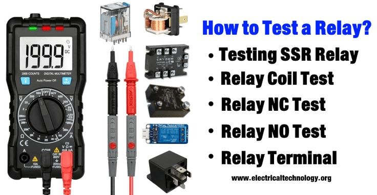 How To Test A Relay Relay, Electronic engineering