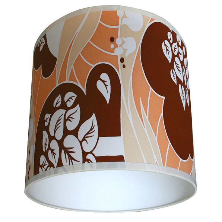 Vintage wallpaper lampshade 70's forest