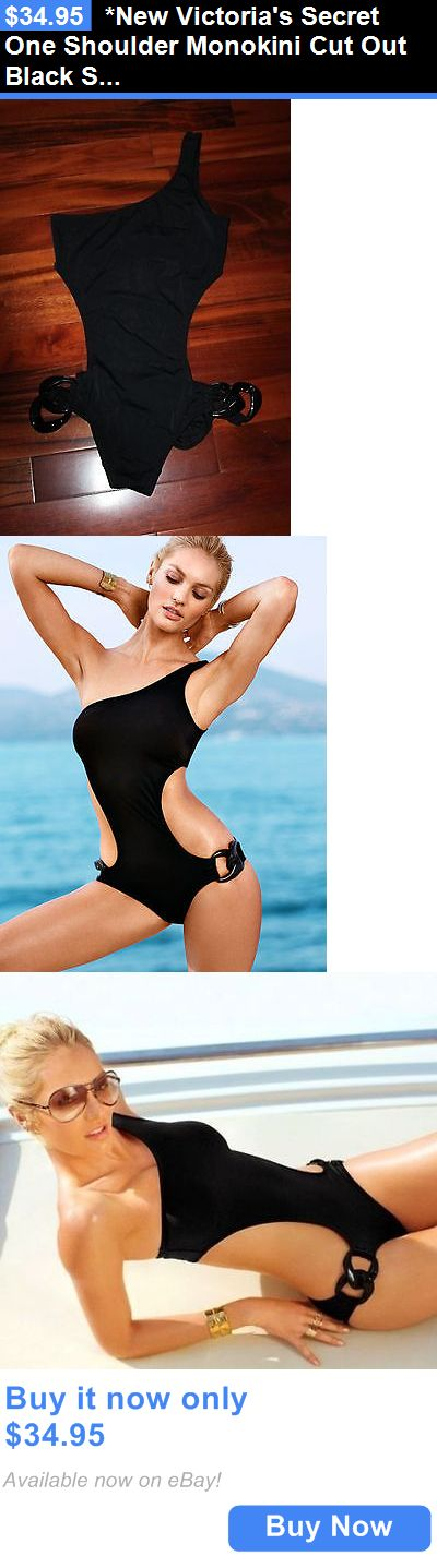 Women Swimwear: *New Victorias Secret One Shoulder Monokini Cut Out Black Swimsuit M $72.50* BUY IT NOW ONLY: $34.95
