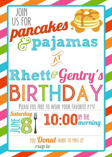 Breakfast, Pajama Party Birthday Party Ideas | Photo 5 of 43 | Catch My Party