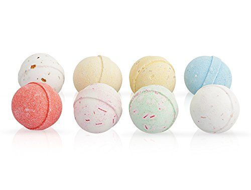 From 9.56 Bath Bombs Gift Set - 8 X 60g Fizzies With Essential Oils - Handmade In Uk - Natural Aromatherapy Spa Gifts Set By Moksha Beauty (8 - Pack)