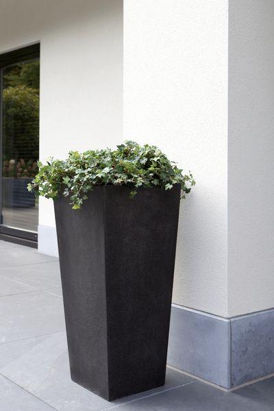 Donica ogrodowa ceramiczno akrylowa 24x24x46 cm, Miloo Home - Wyposażenie wnętrz