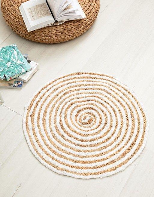 AFFILIATELINK   Chickidee – Runder Teppich Baumwolle Baumwolle und Jute mit …   – Dekoration   DIY, modern & minimalistisch