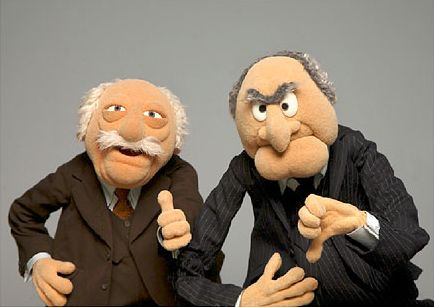 Statler and Waldorf. . . .The Muppet Show ♥