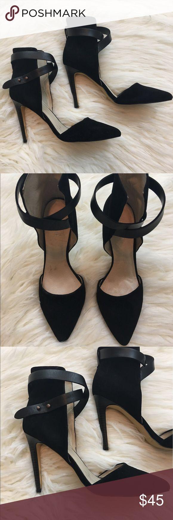 Joe's Black Suede Heels Super Cute! Gently Loved! 7M Joe's Shoes