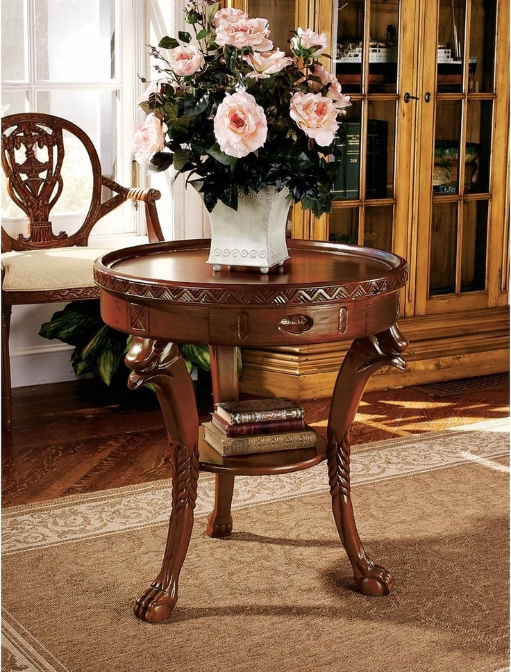 Umbria Foyer Table : Xoticbrands quot hand carved solid hardwood antique replica