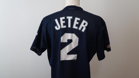 quality design 00722 6efbf Vintage Derek Jeter Baseball Jersey New York Yankees Adult ...