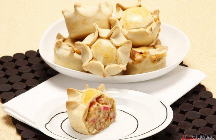 Receita de Empadas de marisco (robot de cozinha). Descubra como cozinhar Empadas de mariscode maneira prática e deliciosa com a TeleCulinária!