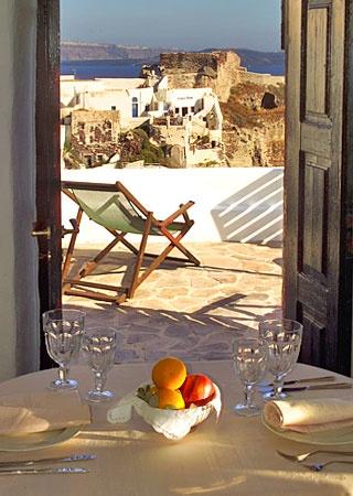 Fanari Villas on the island of Santorini, Greece.