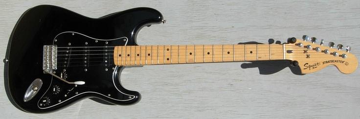 1984 Japanese Squier Stratocaster Black