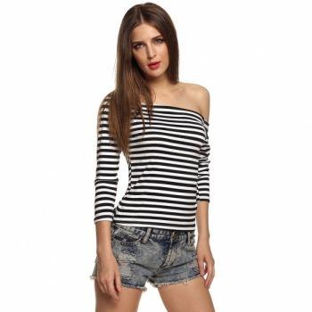 Sexy Women Off Shoulder Slash Neck Long Sleeve T-Shirt Slim Stretch Blouse Tops http://www.dresslink.com/sexy-women-off-shoulder-slash-neck-long-sleeve-tshirt-slim-stretch-blouse-tops-p-22770.html?utm_source=pin&utm_medium=cpc&utm_campaign=Sabrina-Bojic