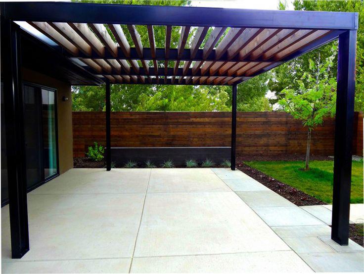 20 id es pour installer une pergola en aluminium dans le for Pergola en bois pour jardin