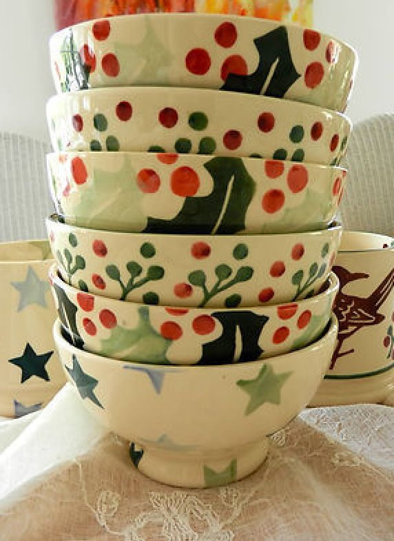Emma Bridgewater Christmas French Bowl Stacking