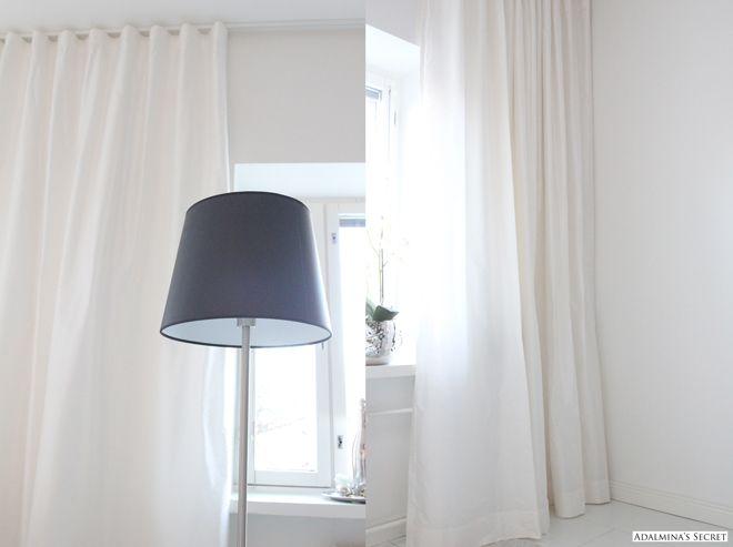 Kauniit valkoiset verhot  Verhot  Pinterest