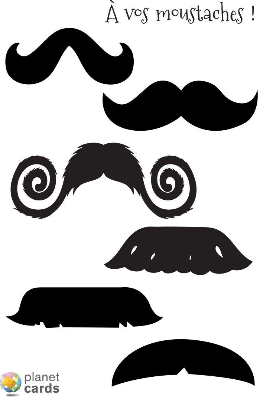Planche moustache photobooth à télécharger