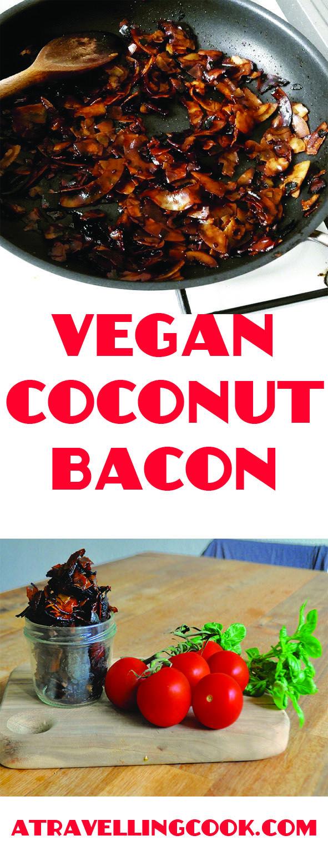 Salty, sweet, crispy, savoury coconut bacon! #vegan #glutenfree