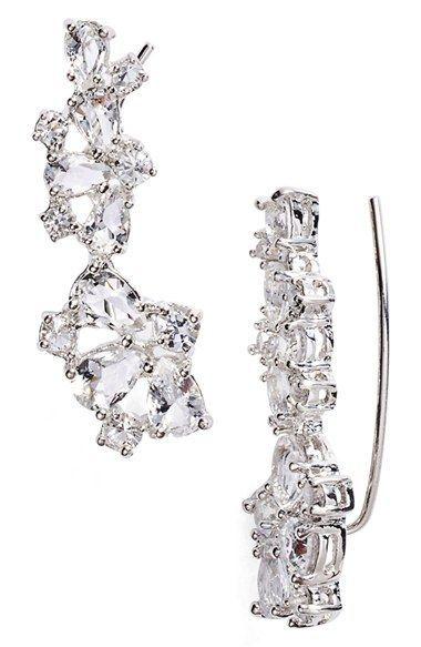 kate spade new york 'be adorned' crystal ear crawlers
