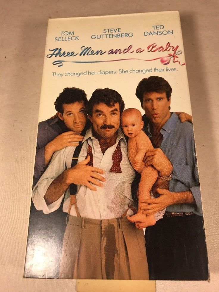 Three Men and a Baby (VHS, 1995) Tom Selleck Ted Danson Steve Guttenberg Comedy