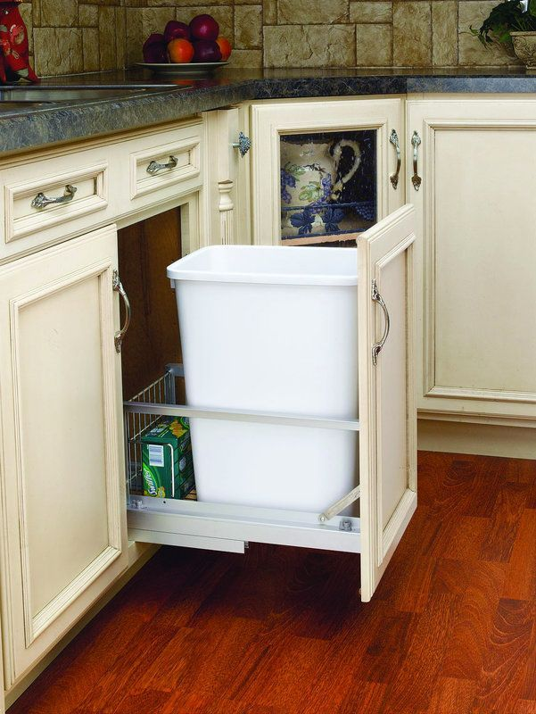 Rev-A-Shelf 5349-15DM18-1 5349 Series 35 Quart Pull Out Waste Container with Sof