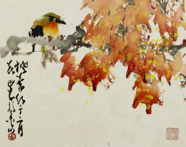 Zhao Shao'ang (Chao Shao'ang, 1905-1998) Birds and Flowers in Four Seasons