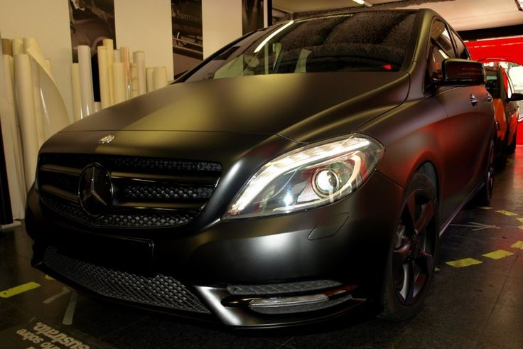 Car Wrapping Mercedes Benz Clase B Gris a Negro Mate integral by Pronto ...