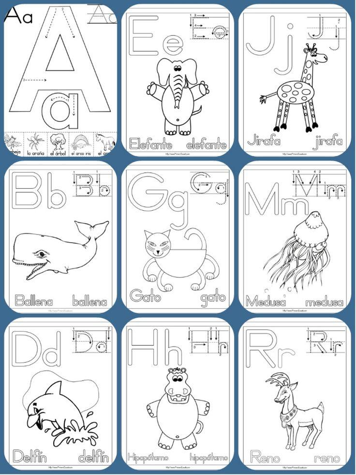Imágenes Educativas: Completo abecedario con 90 fichas para colorear, aprender y repasar.