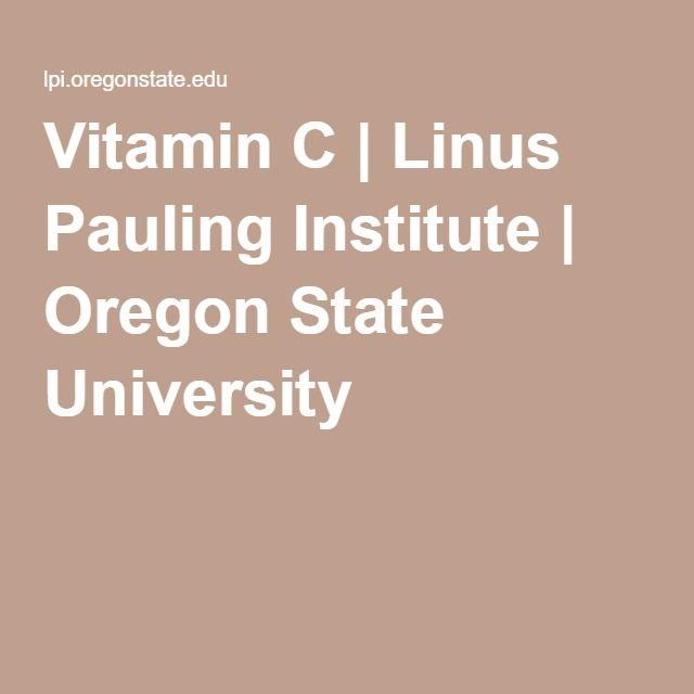 Vitamin C | Linus Pauling Institute | Oregon State University