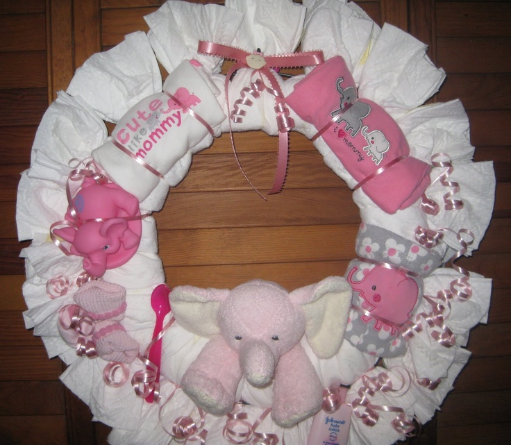 197 Best Diaper Wreath Ideas Images On Pinterest Diaper Bouquet