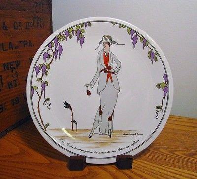 Vintage-Villeroy-Boch-Design-1900-Salad-Plate-5-Art-Nouveau-EUC