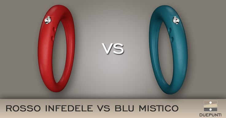 Color:Challenge  Angel or Devil? Mystical Blue or Unfaithful Red? duepunti #rings #colors