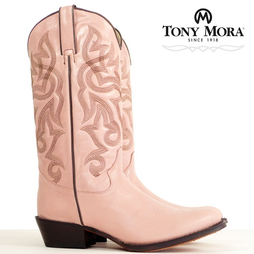 Think Pink! Pink Cowboy Boots by Tony Mora...