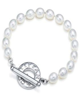 Tiffany And Co Freshwater Pearls Toggle Bracelet