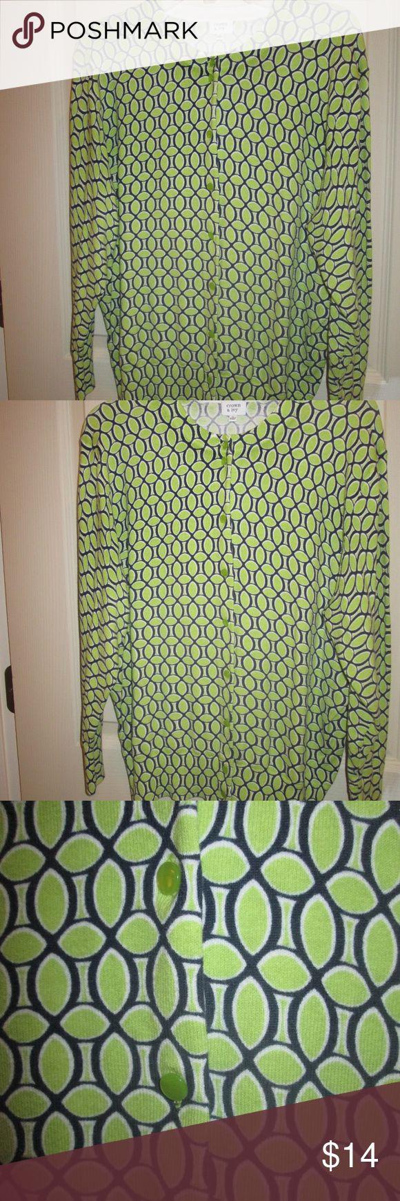 crown ivy cardigan sweater bluegreen size large - Hinterhoflandschaftsideen