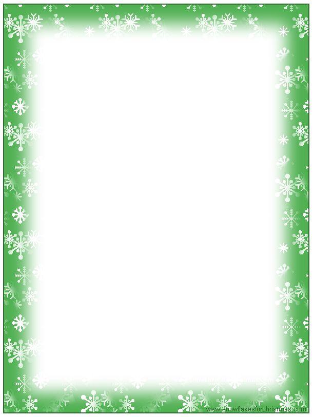 Free Christmas Stationary Templates | FREE Printable Christmas Snowflake Stationery