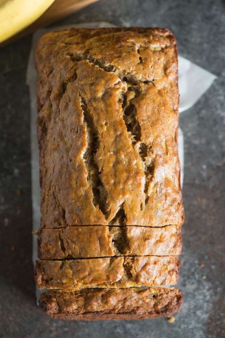 "This Skinny Banana Bread is so moist, perfectly sweet, and delicious, you would never know it's ""skinny""!"