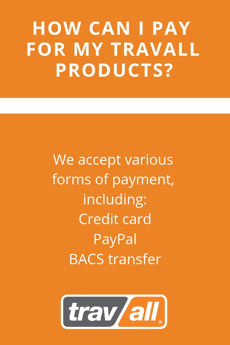 Faq how can i pay for my travall products i pay