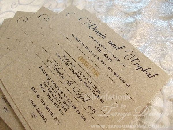 16 best etsy finds images on pinterest wedding reception venues rustic wedding invitations recycle paper invitations brown box invitations stopboris Gallery