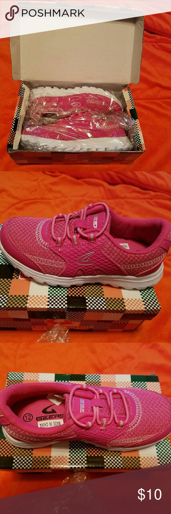 Pink girls tennis shoes Brand new, still in packaging, never worn pink Gears tennis shoes gears Shoes Sneakers
