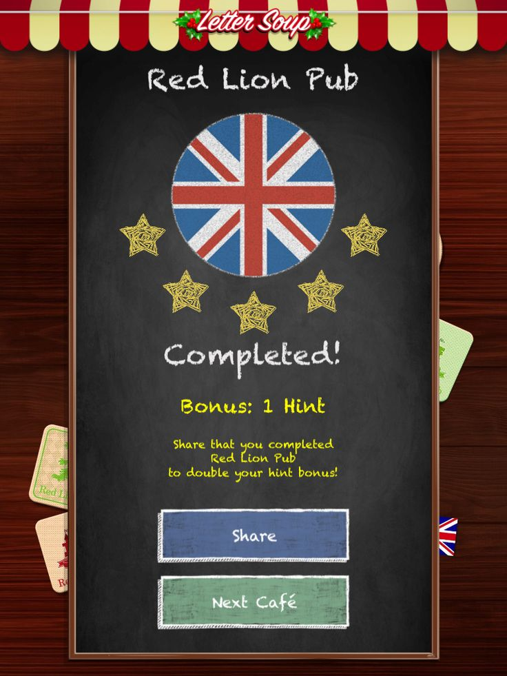 I just completed Red Lion Pub in Letter Soup!  Download FREE for iOS: LetterSoupCafe.com
