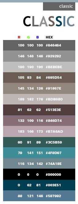 Classic web colors