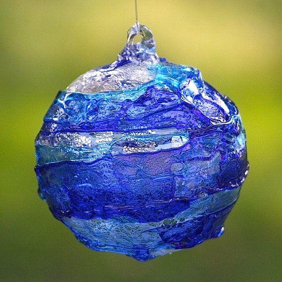 Christmas Ball ornament with blown Murano glass #yourmurano #glassart