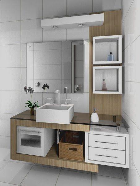 25+ melhores ideias sobre Pequenas Pias De Banheiro no Pinterest  Decoração  -> Nicho Para Pia De Banheiro