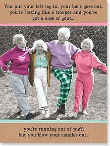 Happy Birthday Cards For Him Photo Of Old Women Line Dancing