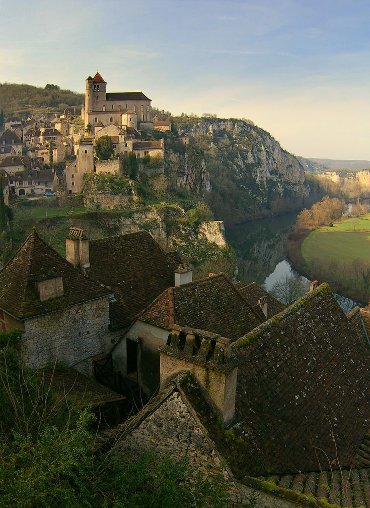 Saint Cirq Lapopie in south west France overlooking the Lot River. An absolutely gorgeous town perched on the side of a cliff.