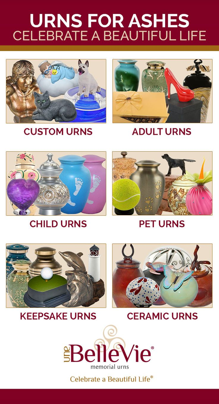 Urns for ashes ideas - Whether you want a completely custom urn created for your loved one, or would like a beautifully artistic urn that you can purchase now, Une Belle Vie offers both. Browse through our site to view the many different urn options to help create the perfect memorial!