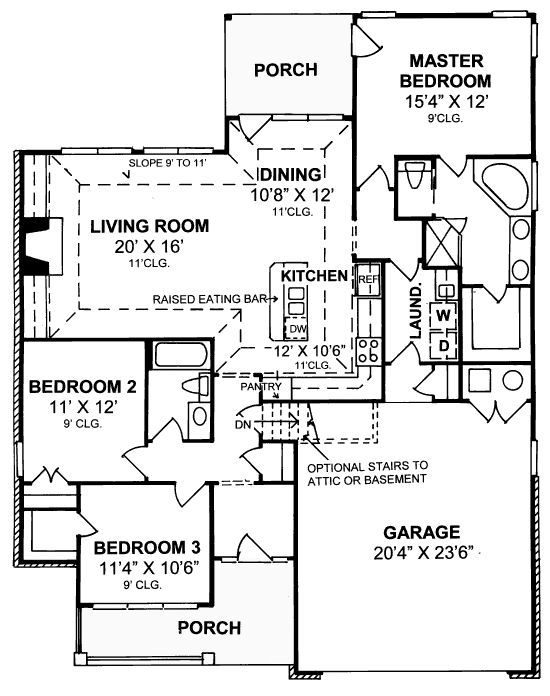 18 best images about house plans under 1500 sq ft on pinterest for Floor plans garage under house