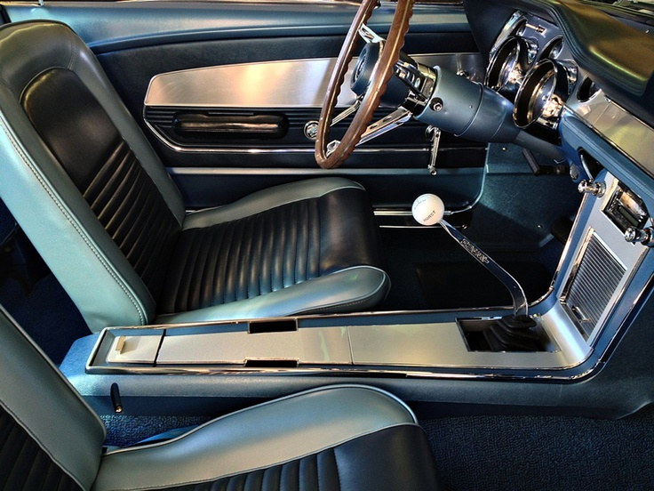 Beautiful Vintage Deluxe Mustang Interior In Blue 1967 Mustang Gt Classic Cars Pinterest